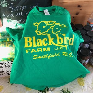 Blackbird Farm green t-shirt